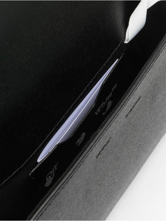 Off-White Сумка Saffiano Clutch черный