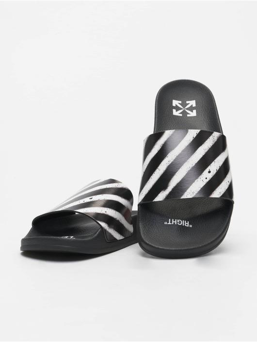 Off-White Шлёпанцы Spray Stripes черный