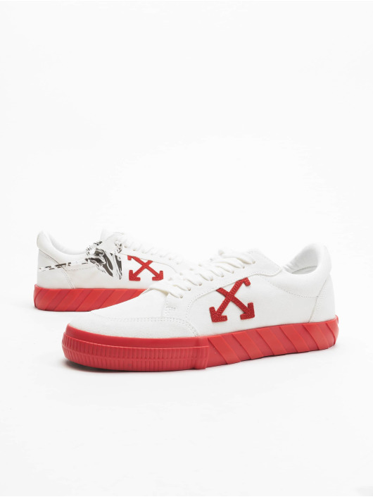 Off-White Baskets Low Vulcanized Suede Leather blanc