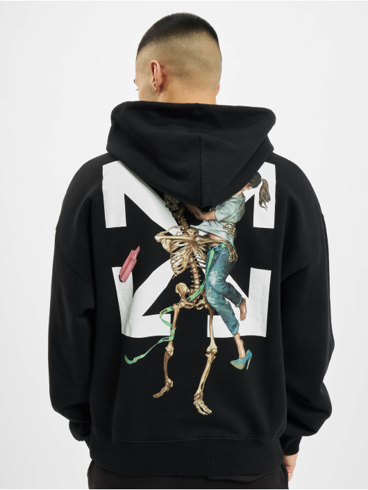 Off-White Bluzy z kapturem Pascal Skeleton Ove czarny