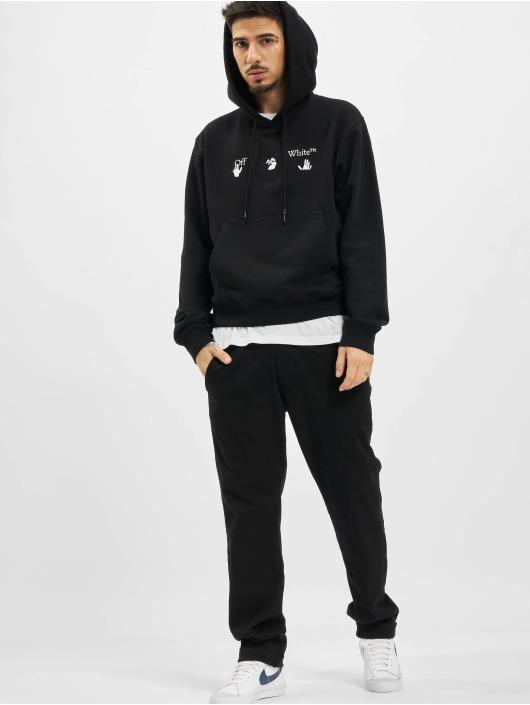 Off-White Bluzy z kapturem Big OW Logo Slim czarny