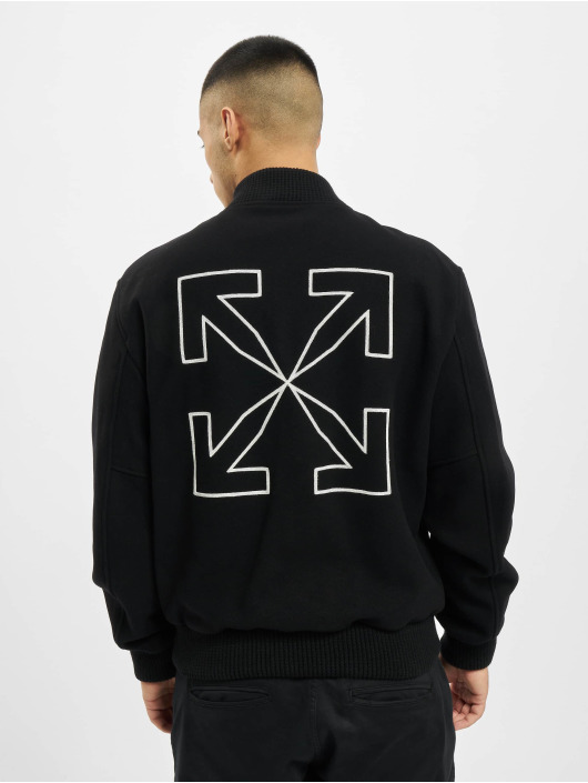Off-White Bomberjacka Arrow Varsity svart