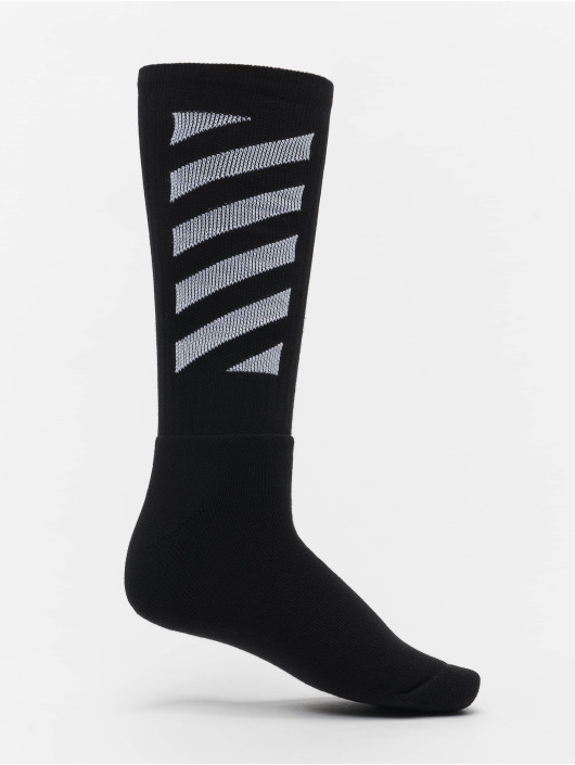 Off-White Calcetines Diag Mid negro