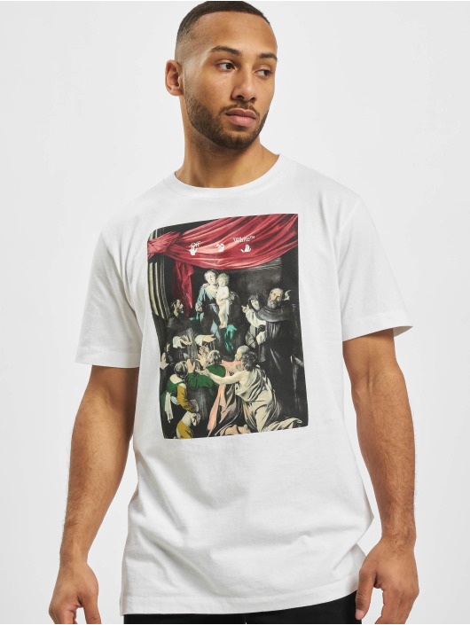 Off-White Camiseta Carvag Painting S/S blanco