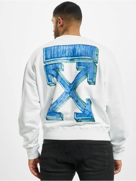 Off-White Camiseta de manga larga Crew Marker blanco