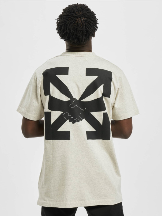 Off-White Camiseta Agreement S/S gris