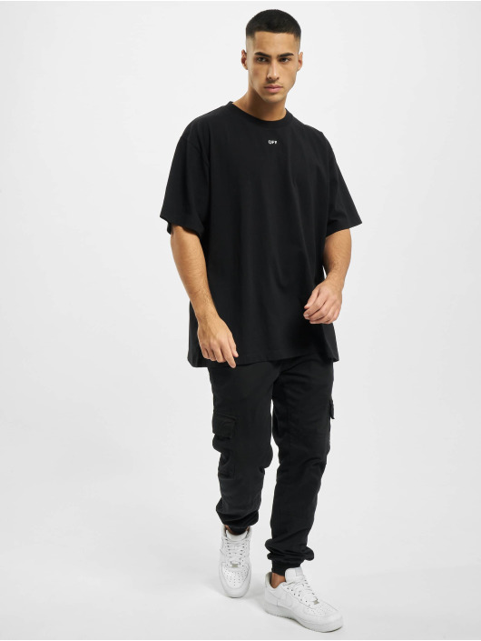 Off-White Camiseta Stancil Over negro