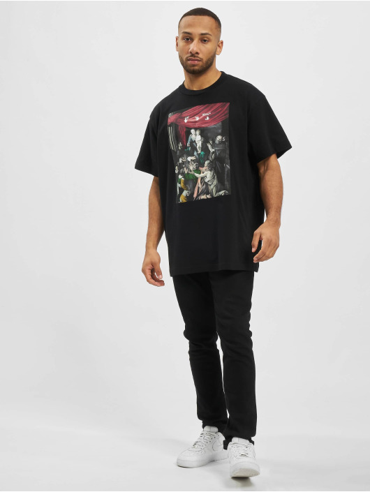 Off-White Camiseta Caravag Painting S/S Over negro