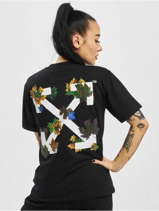 Off-White Camiseta Leaves Arrow Casual negro