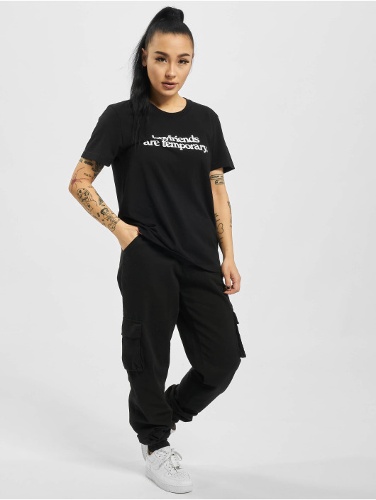 Off-White Camiseta Boyfriends Casual negro