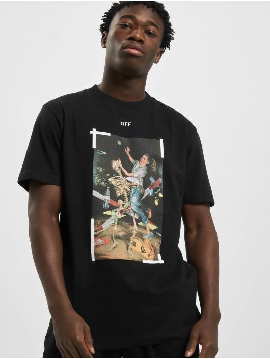 Off-White Camiseta Pascal Print S/S negro