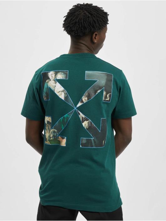 Off-White Camiseta Carvag Painting S/S verde
