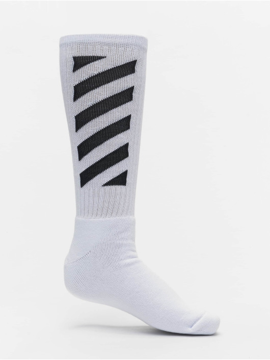 Off-White Chaussettes Diag Mid blanc