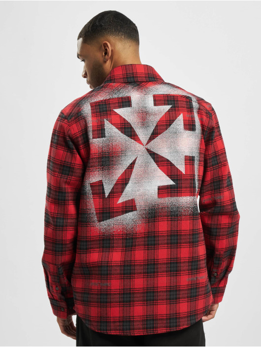Off-White Chemise Check Flannel rouge