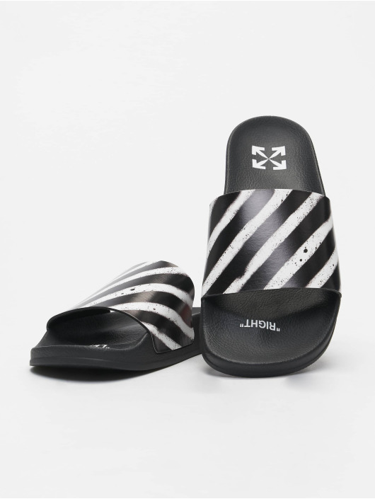Off-White Claquettes & Sandales Spray Stripes noir