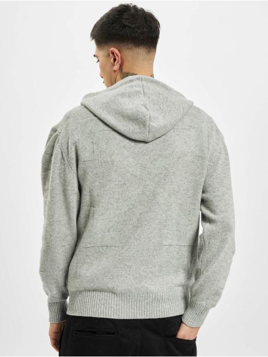 Off-White Felpa con cappuccio Diag Cashmere grigio