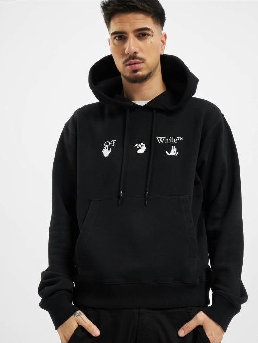 Off-White Felpa con cappuccio Big OW Logo Slim nero