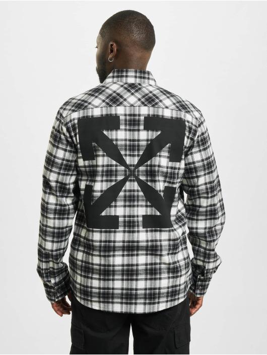 Off-White Hemd Allover Check schwarz