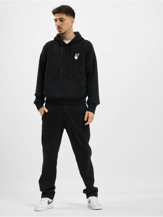 Off-White Hoodie Cut Here Over black