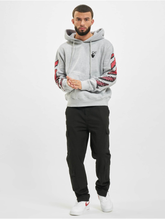 Off-White Hoodie Marker grey