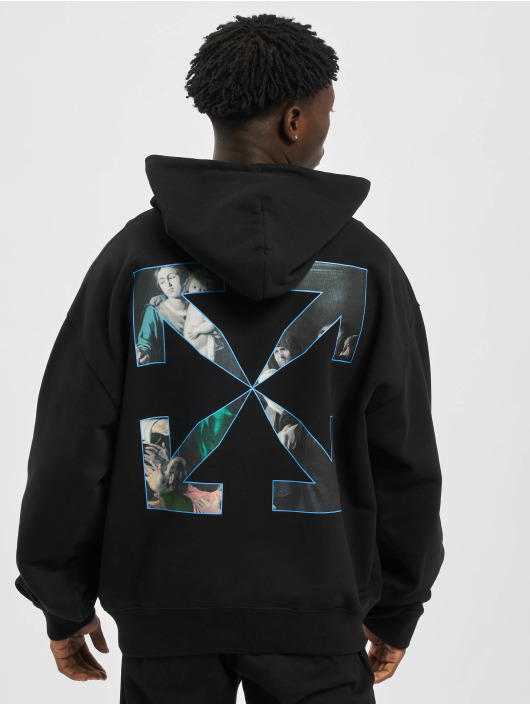 Off-White Hoodie Caravaggio Painting Over svart