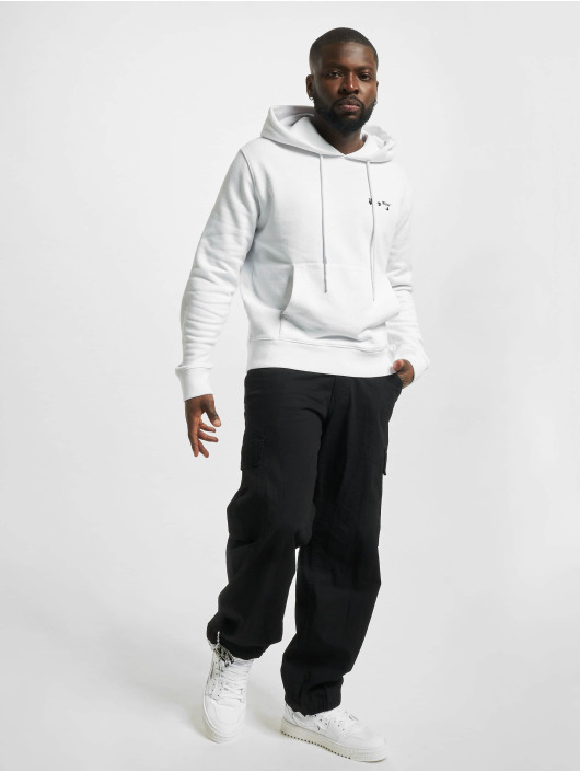 Off-White Hoodie Logo Slim vit