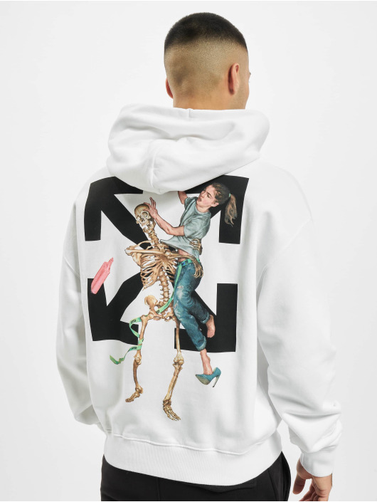 Off-White Hoodie Pascal Skeleton Over white
