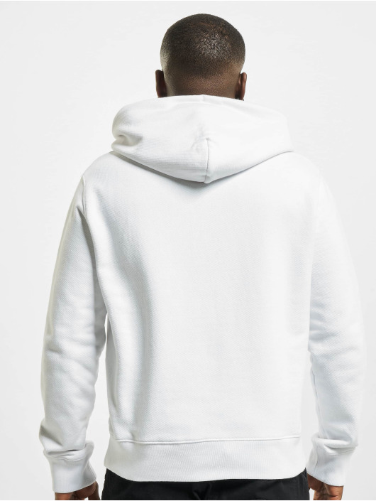 Off-White Hoodies Logo Slim bílý