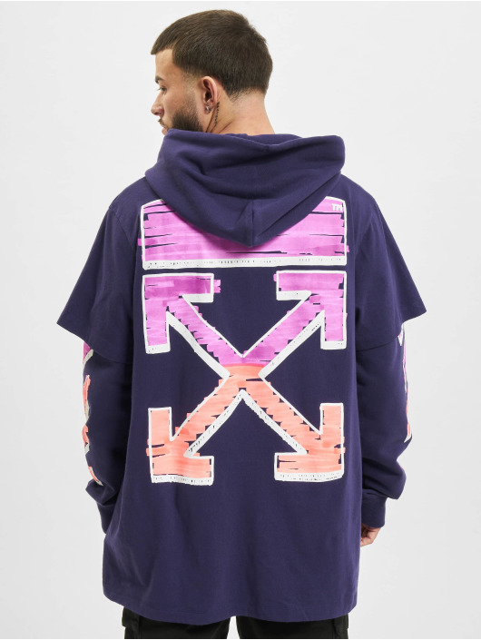 Off-White Hoody Marker Double paars