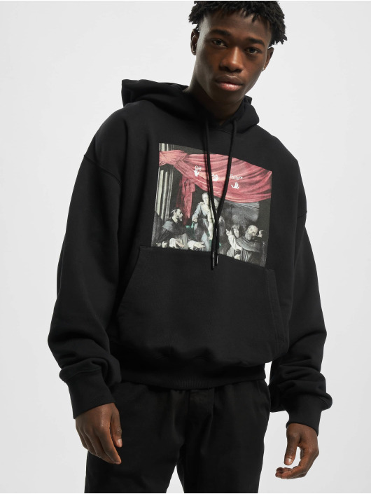 Off-White Hoody Caravaggio Painting Over schwarz