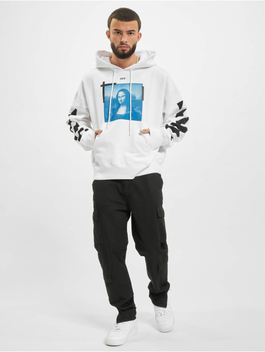Off-White Hoody Monalisa Over weiß