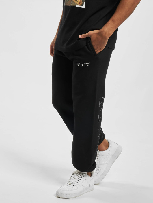 Off-White Jogging kalhoty Diag Ow Logo Shorten čern