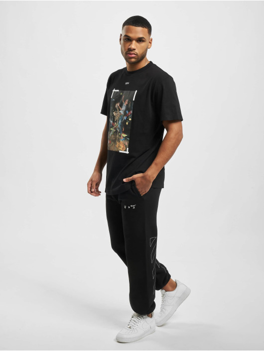 Off-White joggingbroek Diag Ow Logo Shorten zwart