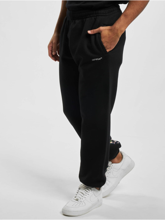 Off-White Joggingbyxor Caravag Paint svart