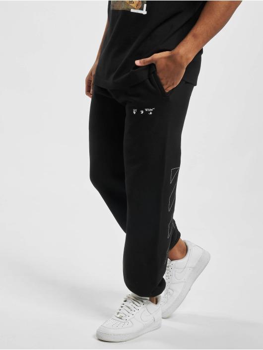 Off-White Jogginghose Diag Ow Logo Shorten schwarz