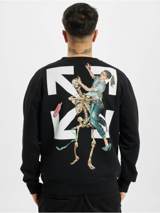 Off-White Longsleeve Pascal Skeleton Slim schwarz