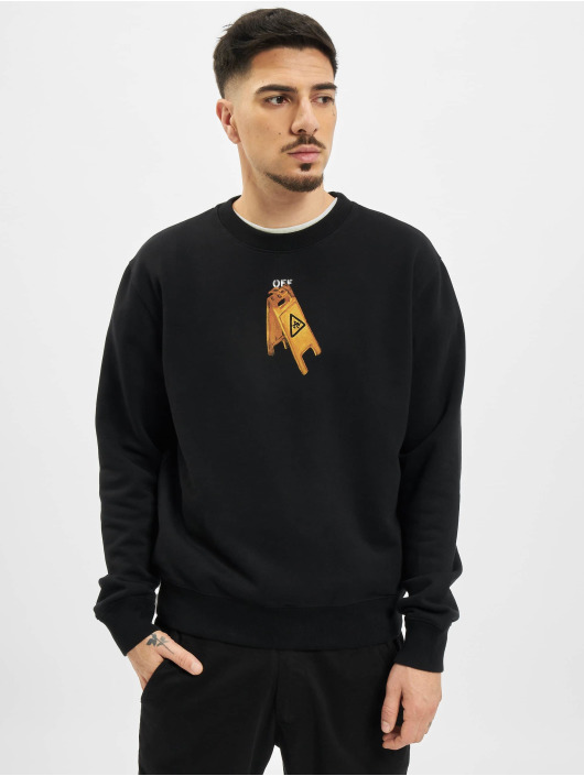 Off-White Longsleeve Pascal Skeleton Slim zwart
