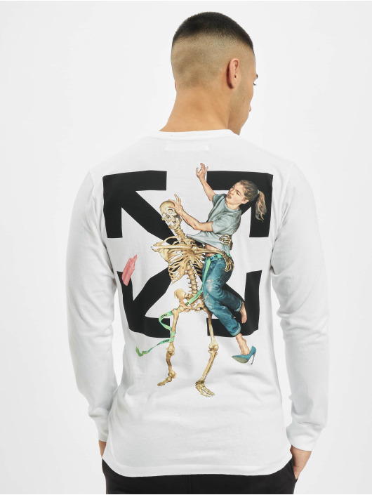 Off-White Longsleeves Pascal Skeleton bialy