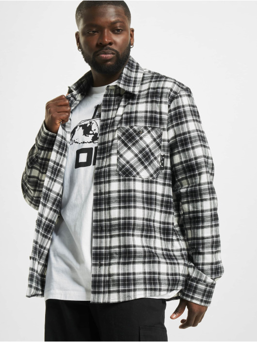 Off-White overhemd Allover Check zwart