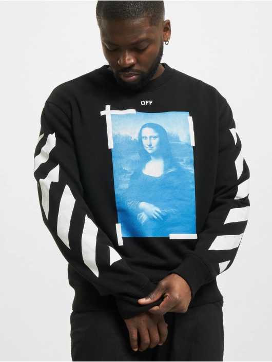 Off-White Pullover Monalisa Slim black