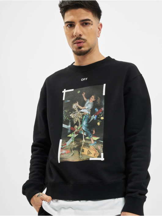 Off-White Pullover Pascal Print Slim schwarz