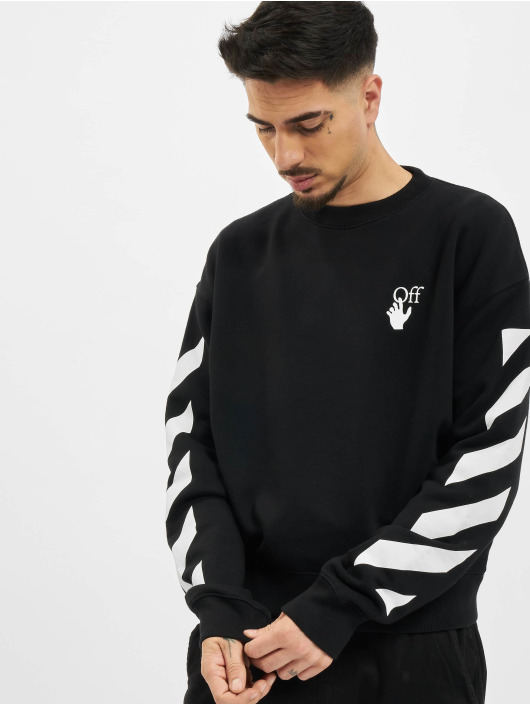 Off-White Pullover Diag Agreement Over schwarz