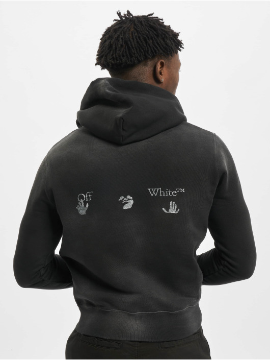 Off-White Pullover Logo Vintage Slim schwarz