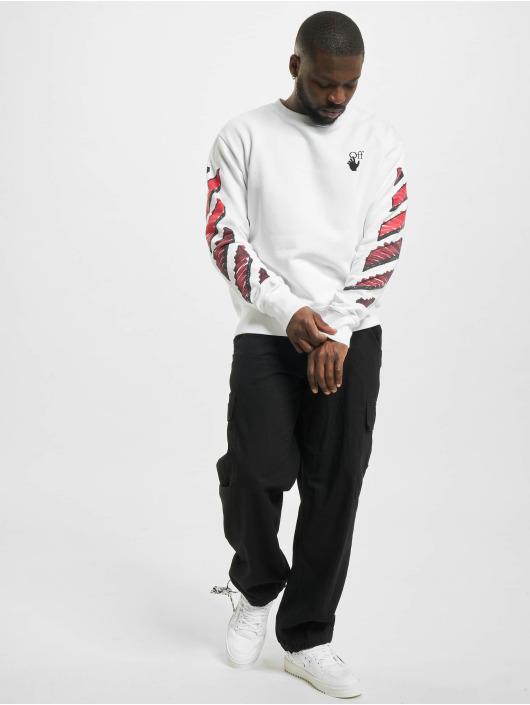 Off-White Pullover Marker weiß