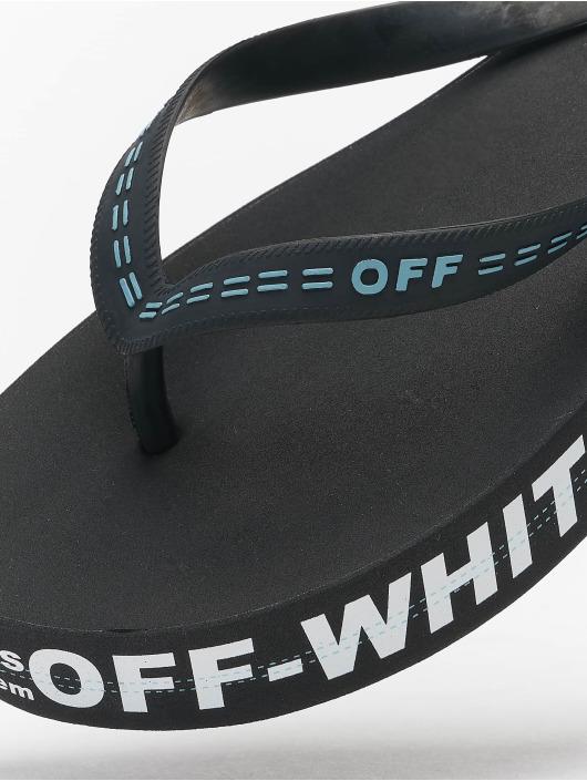 Off-White Sandalen Rubber schwarz