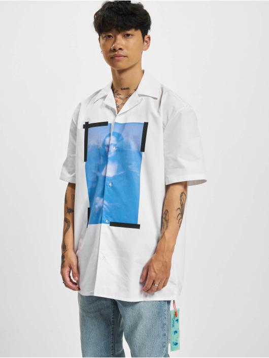 Off-White Shirt Blue Monalisa Holiday white