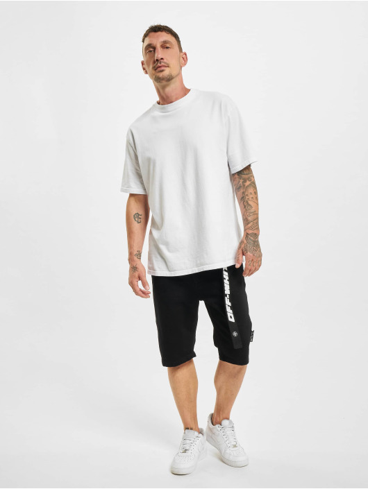 Off-White Shorts Logo Belt Denim nero