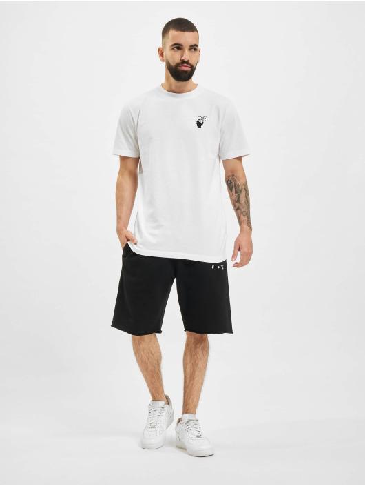 Off-White Shorts Sprayed Caravaggio svart