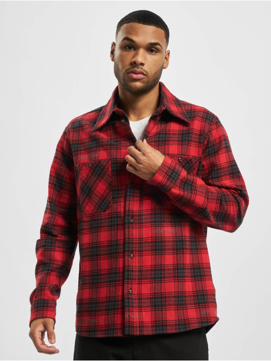 Off-White Skjorta Check Flannel röd