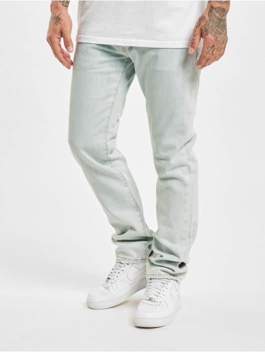 Off-White Slim Fit Jeans Diagonal Stripe синий